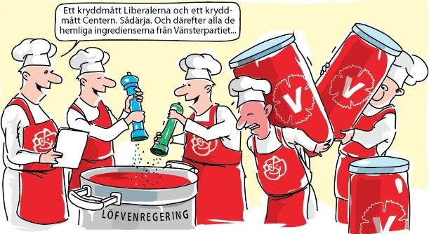 Socialdemokraterna, Vänsterpartiet, Liberalerna, Centerpartiet