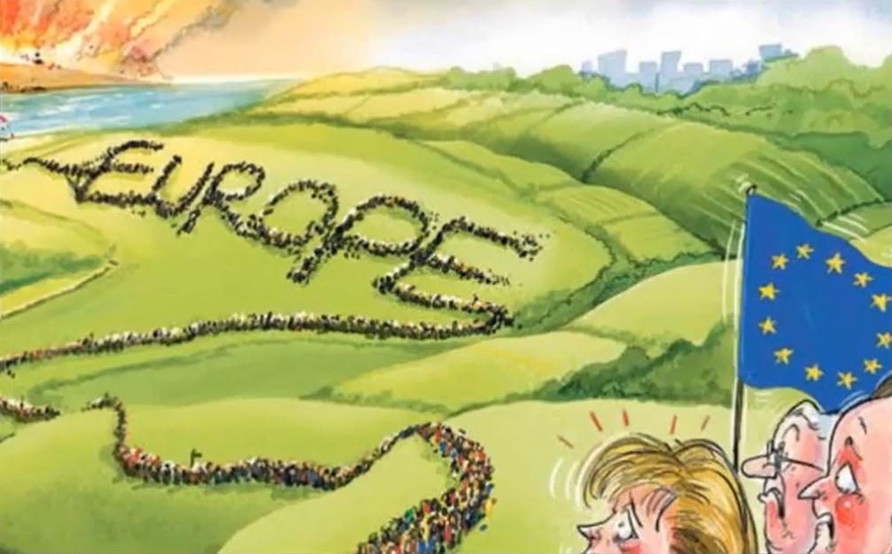 Invasion av EU/Europa från muslimska länder som Syrien, Afghanistan, Pakistan och länder i Afrika. Migranter?