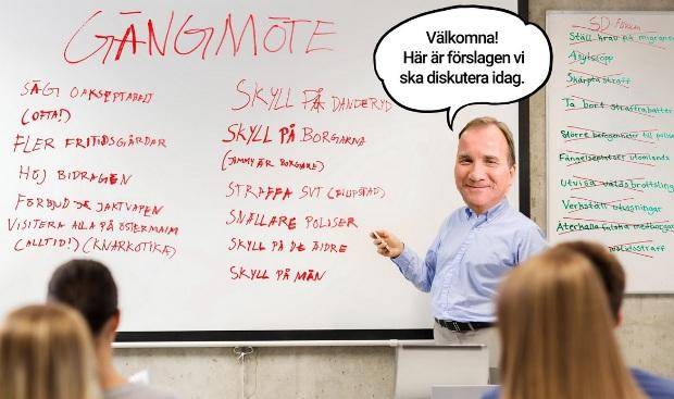 Samtal om gängkriminalitet i Sverige med alla partier utom Sverigedemokraterna