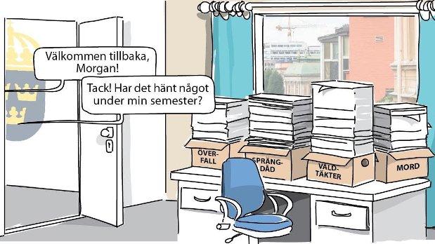 Migrations- och justitieminister Morgan Johansson manifesterar S+MP-regeringens apatiska hållning till den växande kriminaliteten i Sverige