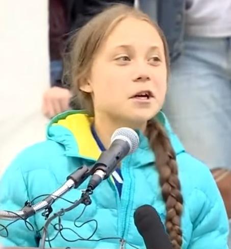 Greta håller tal i Kanada (Edmonton, Alberta)
