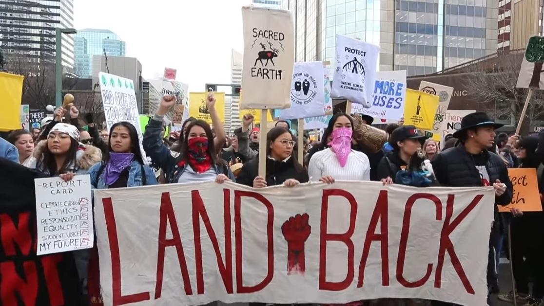 Demonstration i Edmonton, Alberta, Kanada