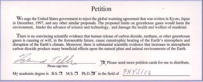The Oregon Petition Global Warming Petiotion Project. 31,487 American scientists have signed this petition, including 9,029 with PhDs