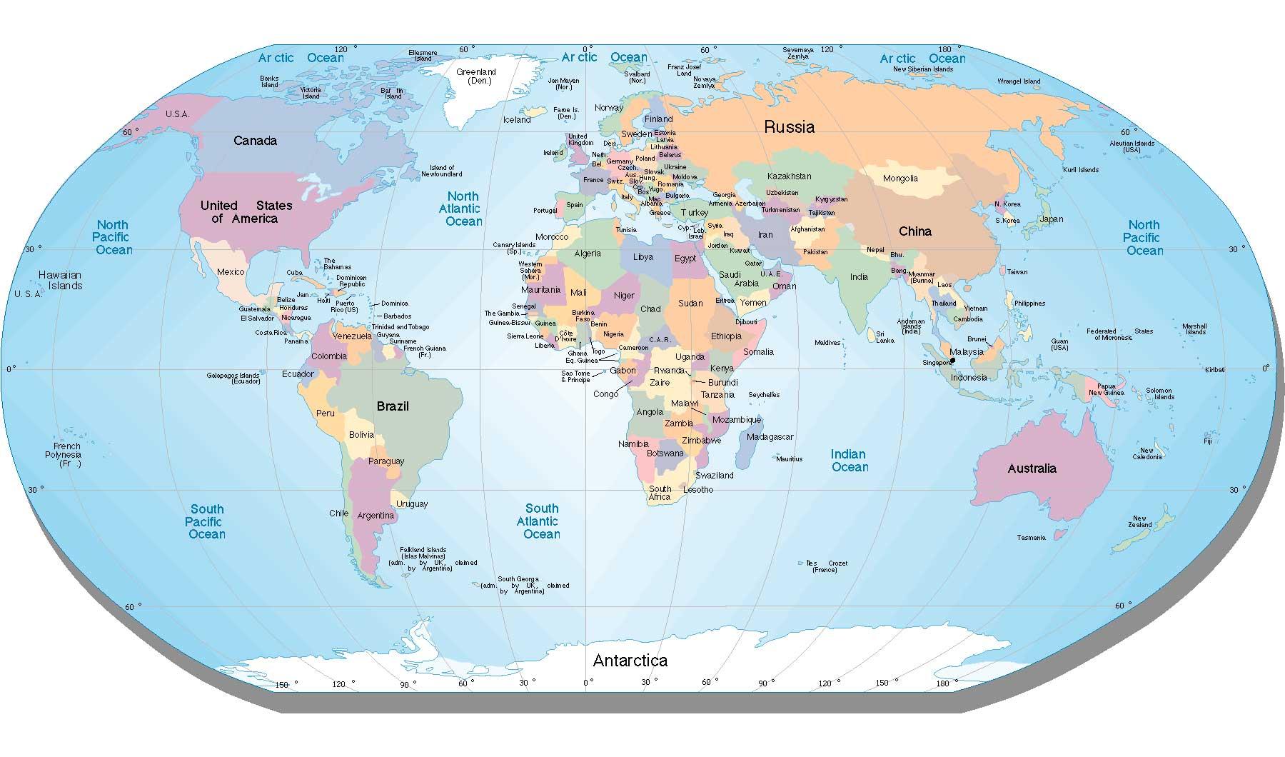 stor karta över världen Gratis kartor online. Kartsajter för hela världen. Länkar till  stor karta över världen