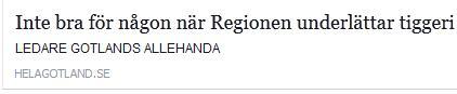 Klicka här för att gå till artikeln i Hela Gotland, 2015-11-26