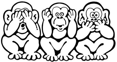 Sveriges vänsterpolitiker och vänsterstyrda media - See no evil, hear no evil, speak no evil