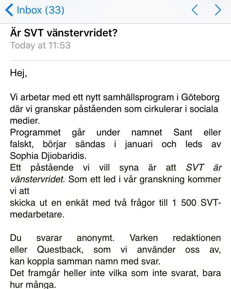 Är SVT vänstervridet?