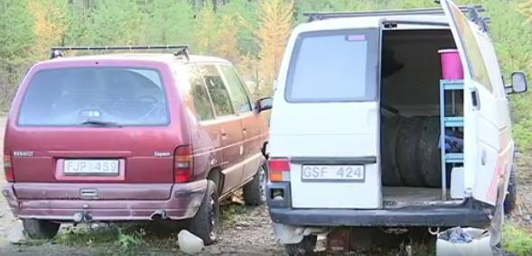 EU-migranternas övergivna läger i Sätra