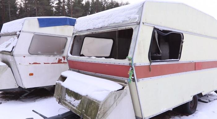 EU-migranter, Umeå, husvagnar