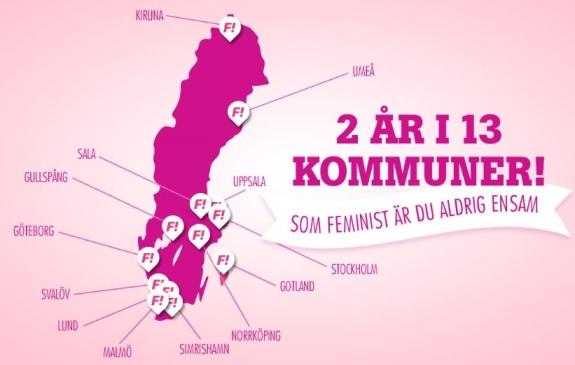 Feministiskt initiativ: I vilka kommuner har Fi mandat?