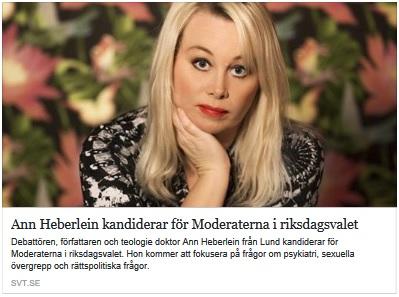 Ann Heberlein kandiderar för Moderaterna