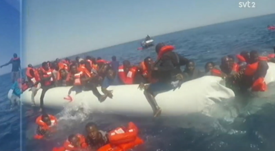 Migranter över Medelhavet består nästan enbart av män utan asylskäl