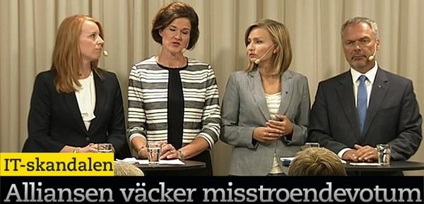 IT-skandalen. Anna Kinberg Batra (M). Presskonferens