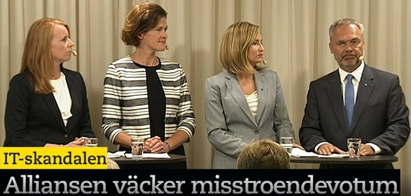 IT-skandalen. Jan Björklund (L). Presskonferens
