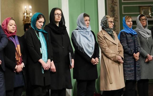 Den svenska delegationen för Sveriges regering på besök i Iran