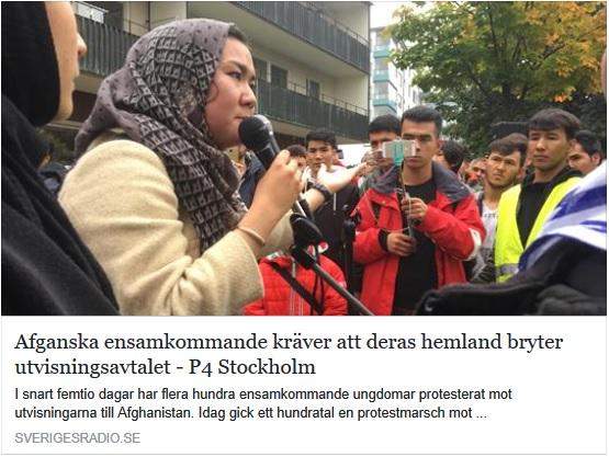 Afghaner kräver att afghaner bryter avtal med Sverige