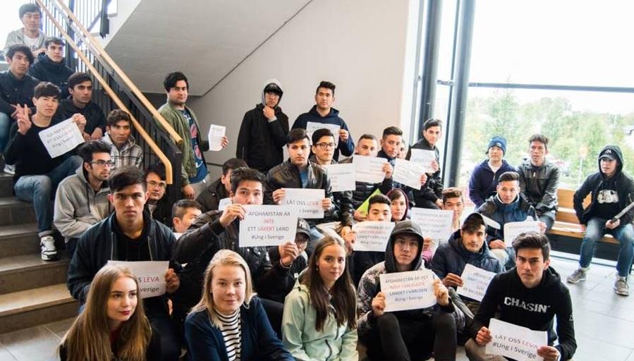 Sittsrejk, elever i Luleå, arrangerat av Ung i Sverige