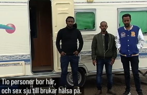 Några nyanlända får bo i husvagnar i Staffanstorp