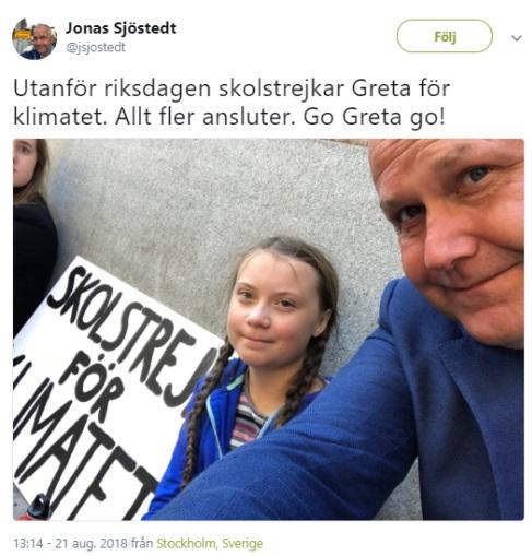 Jonas Sjöstedt stödjer skolk från skolan