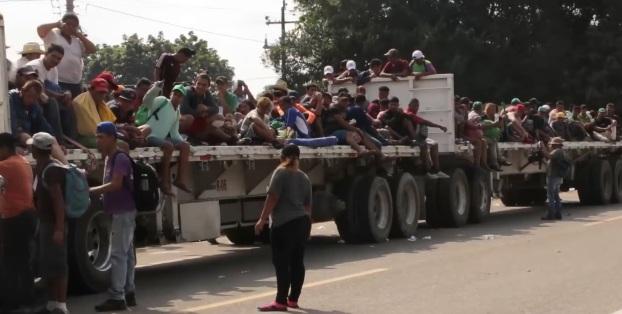 Transport av migranter på väg till USA genom Mexiko