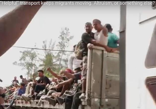 Migranter på väg till USA genom Mexiko