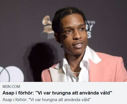 Asap Rocky misshandlar afghan i Sverige