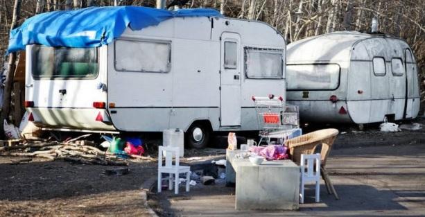 EU-migranter, olagliga bosättningar i Rinkeby-Kista