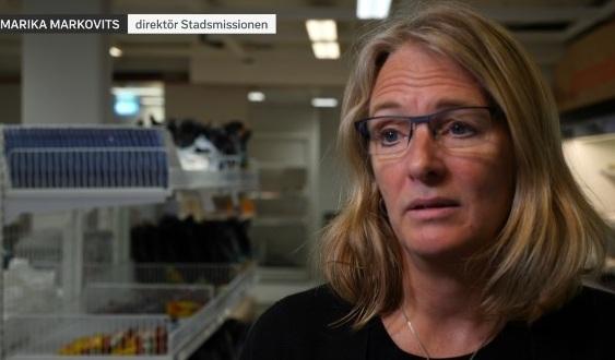 Marika Markovits, direktor på Stadsmissionen i Stockholm