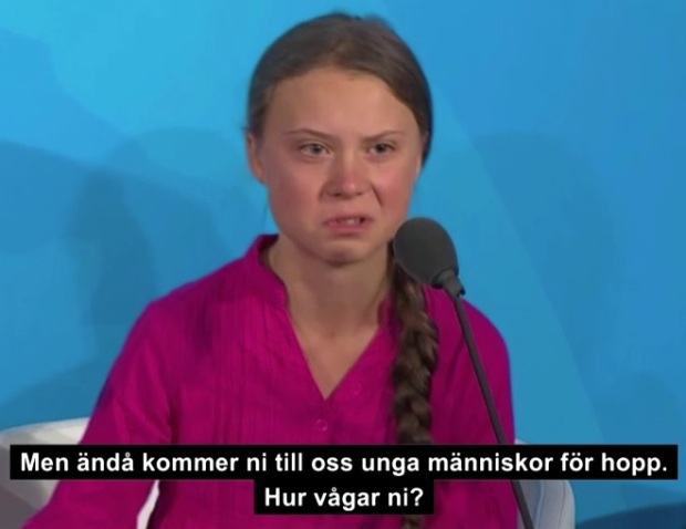 Greta Thunbergs tal på FN:s miljökonferens