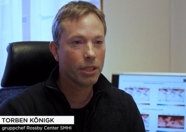 Torben Königk, gruppchef Rossby Center SMHI. Temperaturhöjningen värre än befarat enligt forskare, hävdar TV4-nyheterna 2019-10-24