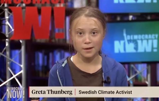 Greta Thunberg intervjuas av Democracy Now