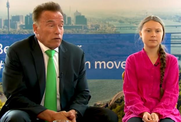 Greta Thunberg och Arnold Schwarzenegger