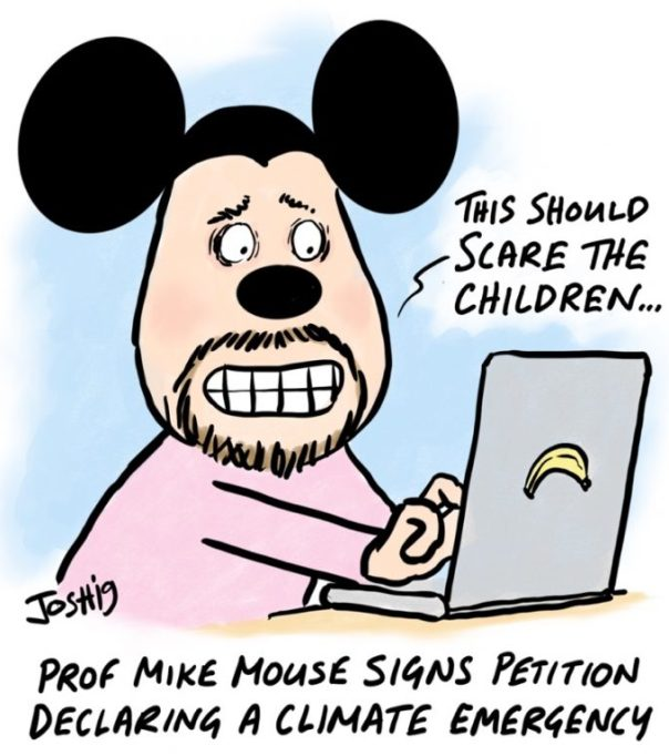 Professor Micky Mouse, Institute for Blind, Namibia, skriver under en förklaring om klimatkris