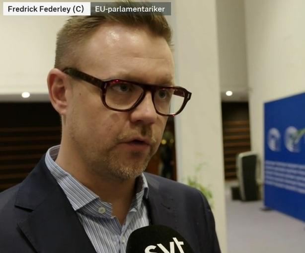 Frederick Federley (Centerpartiet), vänsterextremist, klimatlag i EU
