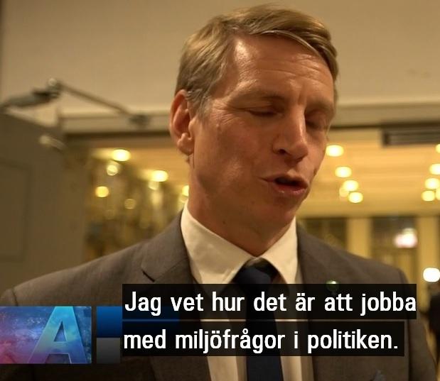Per Bolund, Miljöpartiet, kan inte skilja på klimat och miljö