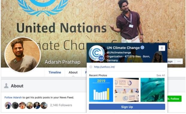 Adarsh Prathap (Indien) Svante Thunberg och Svante Thunberg skriver Greta Thunbergs inlägg på sociala medier