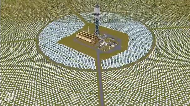 Solpaneler: Ivanpah Solar Array i Mojave öknen, Kalifornien, USA